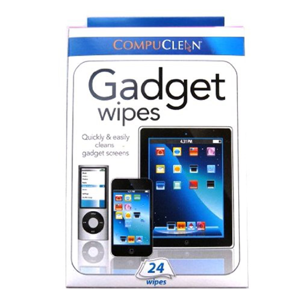Gadget Screen Wipes for Ipod, Iphone and Ipad - Box of 24 Compuclean 4330952205