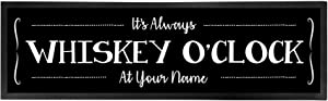 Personalized Bar Runner Mat - Novelty Beer Gifts for Home Bars - Whiskey O'Clock