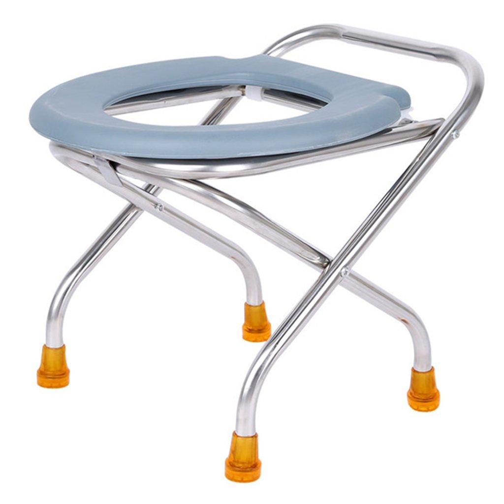 高齢者のための椅子折りたたみトイレ家庭用モバイルトイレスツール (サイズ さいず : Folding height 37cm) B07CY197G9   Folding height 37cm