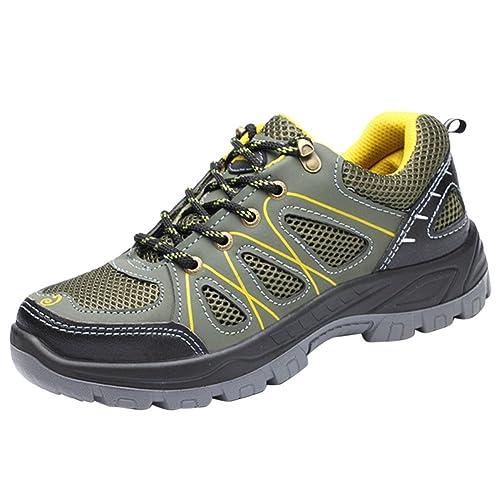Zapatillas De Seguridad para Hombre Zapatos Trabajo con Tapa Acero Industria Calzado Deportiva Antideslizante: Amazon.es: Zapatos y complementos