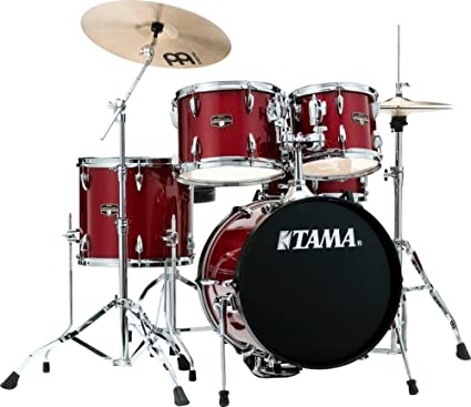 Amazon Com Tama Imperialstar 5 Piece Complete Drum Set With Meinl