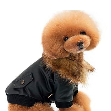 DLDL Ropa de Perro Mascota otoño e Invierno Caliente Mascota ...
