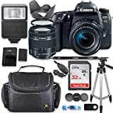 Canon EOS 77D DSLR Camera with Canon 18-55mm Lens + Deluxe Accessory Bundle including Gadget Case, 32GB Memory, Tripod & More