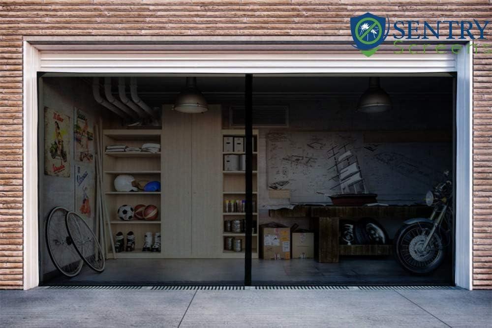 Classy magnetic garage door screen