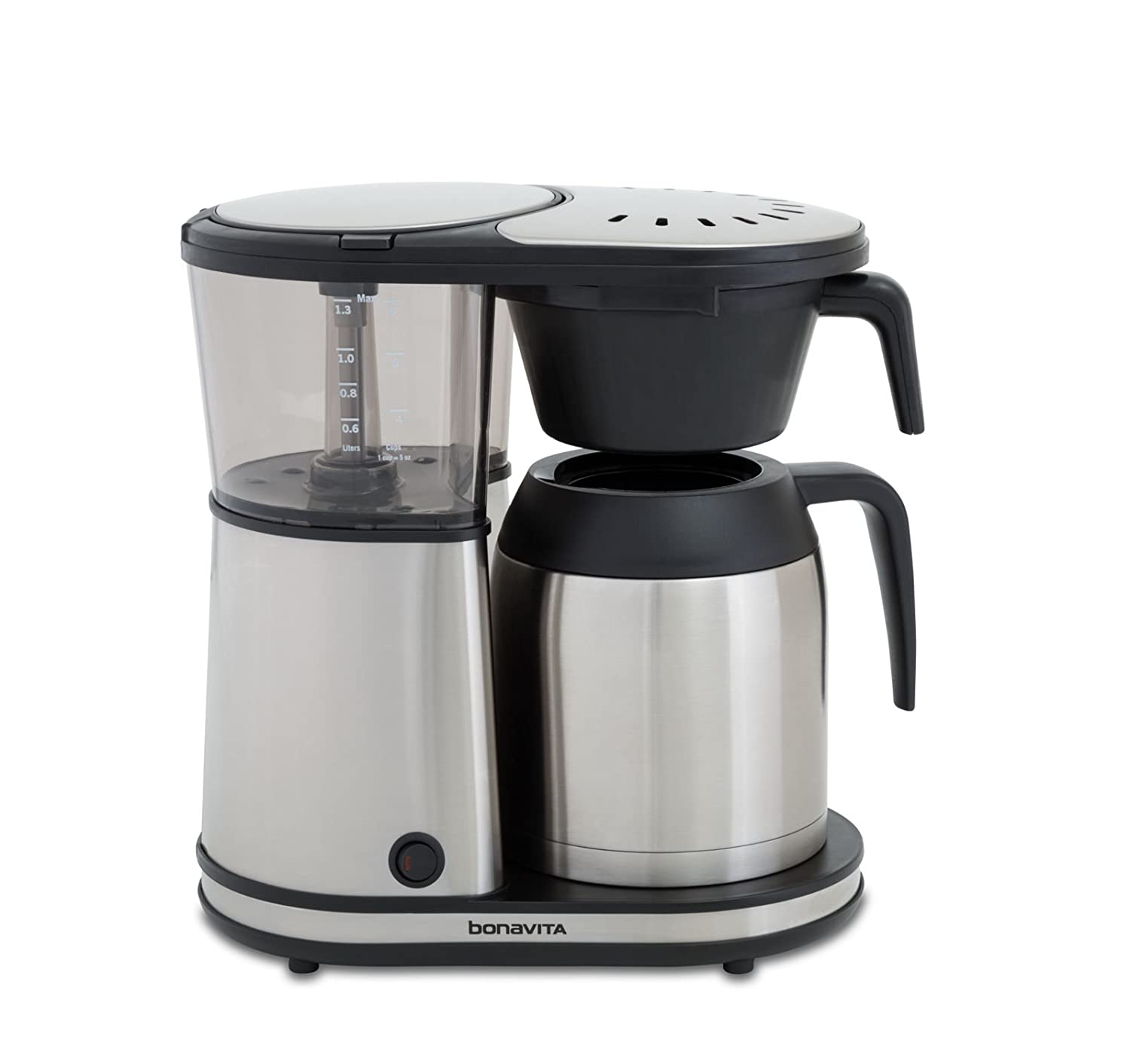 Bonavita BV1901TS Connoisseur 8-Cup One-Touch Coffee Maker Featuring Hanging Filter Basket and Thermal Carafe