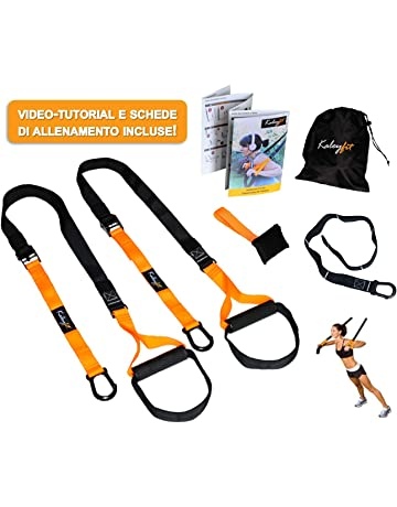 d2d282fe7ca25d Kaleyfit Suspension Fit Trainer – Kit per Allenamento in Sospensione,  Fitness, Crossfit, Strap