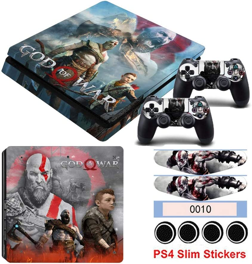 35 YISHO PS4 Slim Sticker for Playstation 4 Slim Console/&Controller Vinyl Skin Decals Dust-Proof Protector