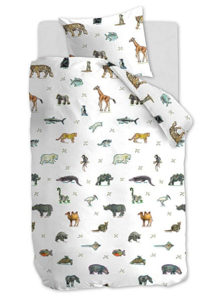 Beddinghouse Cama Infantil Kids Zoo Multi de 100/% algod/ón con Motivos de Animales en un Fondo Blanco 80 x 80 cm 135 x 200 cm algod/ón,