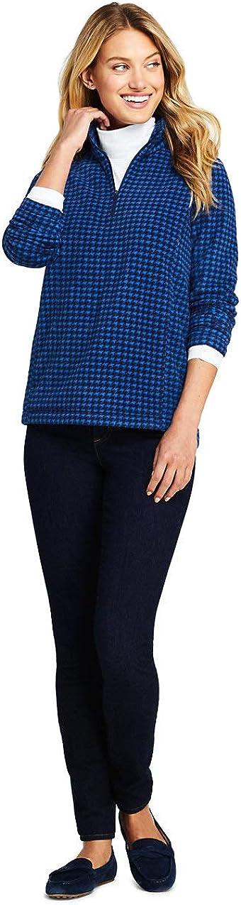 Lands End Womens Quarter Zip Fleece Pullover Top