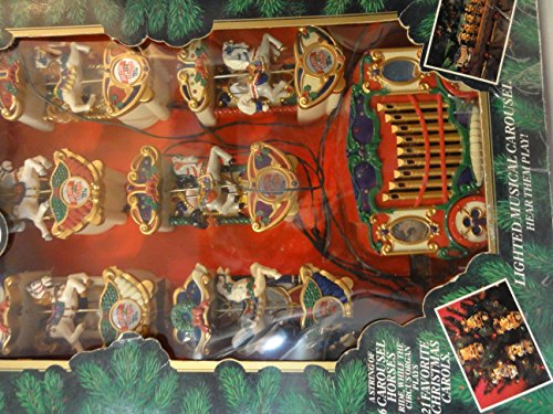 Mr. Christmas Holiday Carousel Musical / 6 Horses Figurines by Mr. Christmas (Image #2)