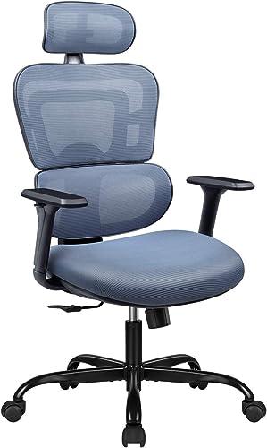 Furmax Ergonomic Office Chair Computer Desk Chair Mesh Fabric High Back Swivel Chair