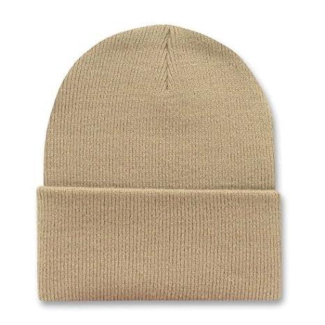 Amazon.com  KHAKI TAN LONG BEANIE SKI CAP CAPS HAT HATS CUFFED  Clothing 40e3d478079