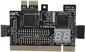 Analyzer Diagnostic Card for Laptop Desktop Black Motherboard Tester Maxmartt Motherboard PCI/PCIE/Mini PCIE/LPC PC 4.0 2.5 0.1in