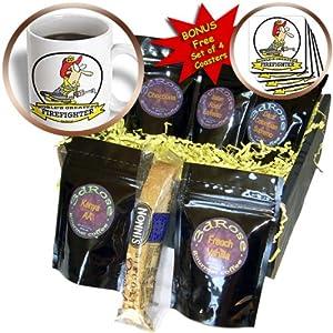 cgb_103181_1 Dooni Designs Worlds Greatest Cartoons – Funny Worlds Greatest Firefighter Cartoon – Coffee Gift Baskets – Coffee Gift Basket
