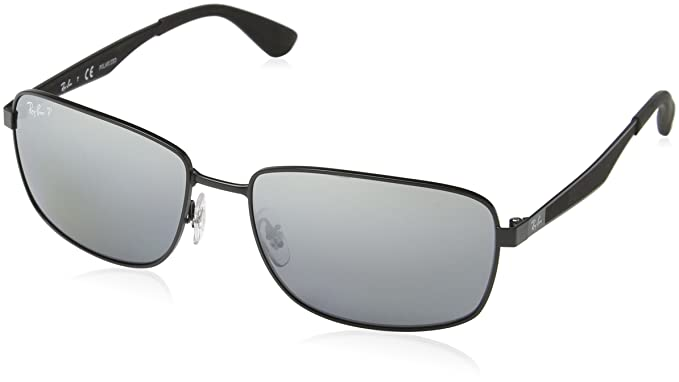 1036f8a418 Image Unavailable. Image not available for. Color  Ray-Ban Men s RB3529 006 82  Polarized Square Sunglasses ...