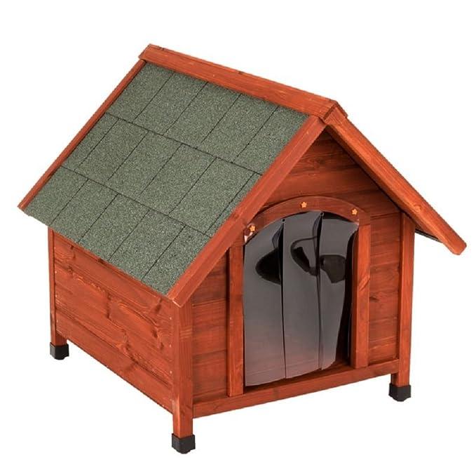 Exterior Caseta perros Madera Gesto techo: Amazon.es: Productos para mascotas