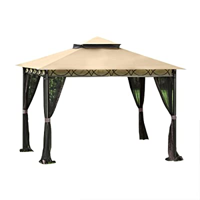 Garden Winds Replacement Canopy Top Cover and Netting for The Celeste Gazebo - RipLock 350 : Garden & Outdoor