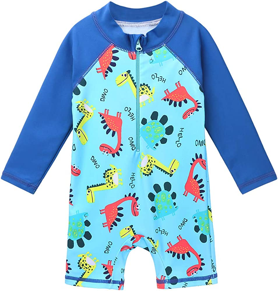 HUAANIUE Baby//Toddler Boy Swimsuit Rashguard Swimwear Long Sleeve One-Piece