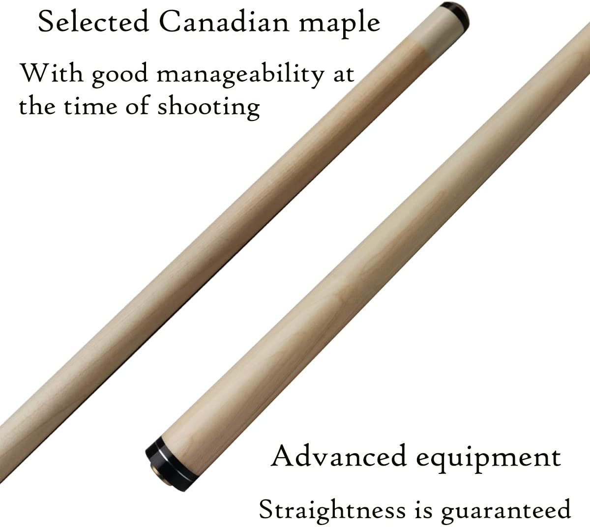 JianYing PC18-20 58 Inches 2 Pieces Pool Cue Stick with Case with Billiard Accessories