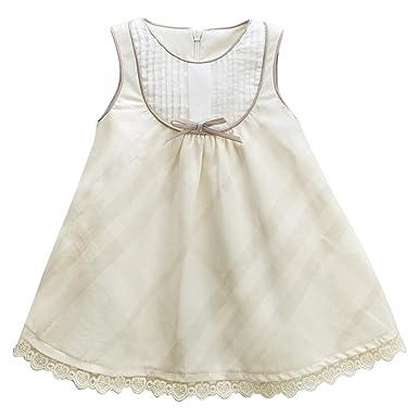 b47ff68badc8 Baby Girl Dresses Summer Toddler Dress Casual A Line Dress Sleeveless  Princess Dress (Offwhite