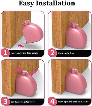 ONGHSD - Tope de puerta portátil para seguridad del hogar y protección personal, para dormitorio, hotel, viaje y protección personal: Amazon.es: Oficina y papelería