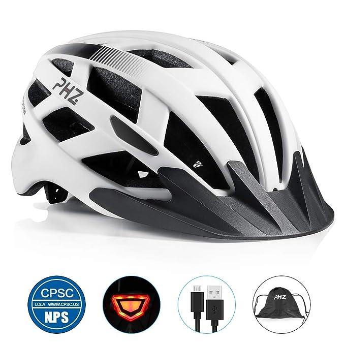 Casco de bicicleta PHZING CE certificado, ajustable, para adultos con visor desmontable, para bicicleta, de carretera o BMX: Amazon.es: Deportes y aire libre