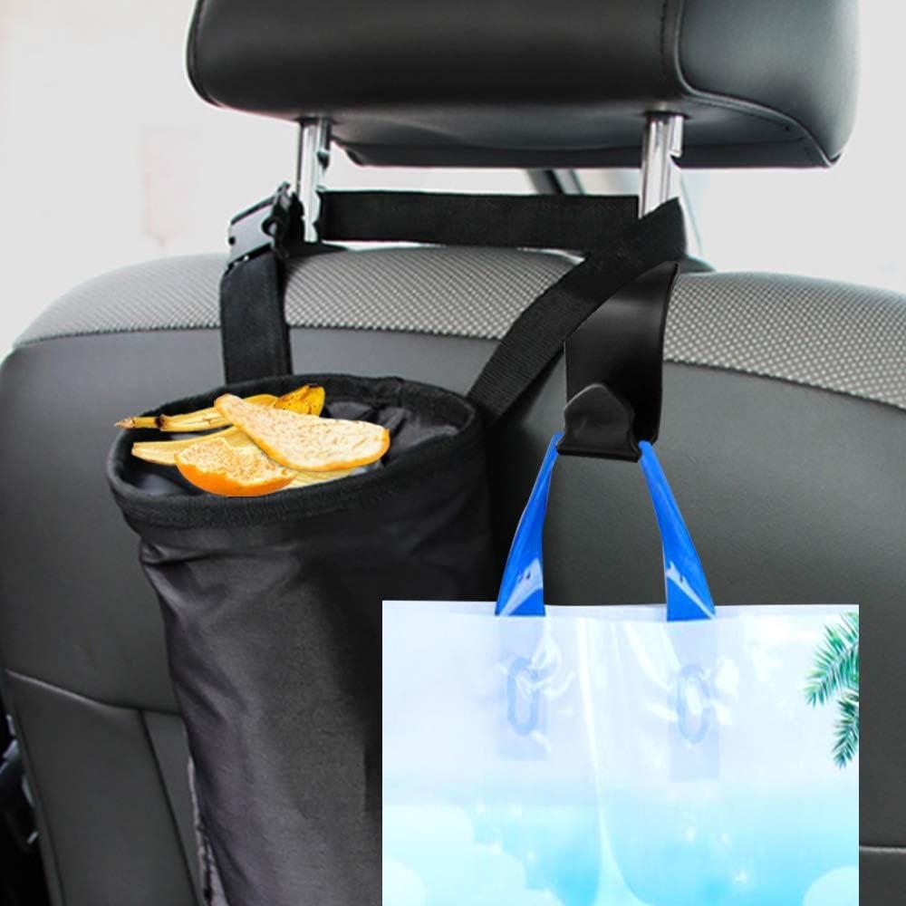 R/ücksitz-Abfallbeutel f/ür das Auto FineGood 2er-Pack Auto-M/üllbeutel mit R/ücksitz-Kopfst/ützenhaken
