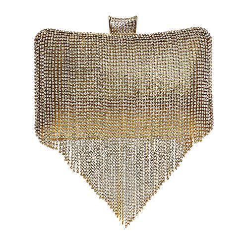 Diamant Femme Banquet Clutch De Gland Coloré Soirée Gold Pochette Main D'embrayage Sac Mariage Prom Fête Sac Bourse Sac à wtRtfrq