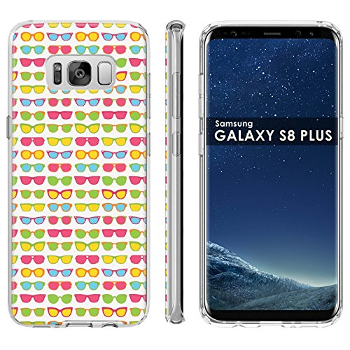Galaxy S8Plus Soft Mold [Mobiflare] [Clear] Thin Gel Protect Cover - [Sunglasses] for Samsung Galaxy S8+ [6.2