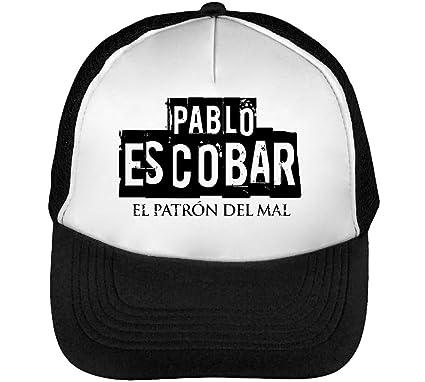 coupe classique vêtements de sport de performance qualité-supérieure Wicked Design Pablo Escobar El Patron Casquette Snapback Homme Noir Blanc  Baseball One Size