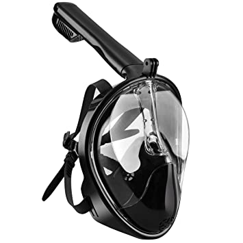 OMorc Snorkel Mask 180° Seaview GoPro Compatible Diving Mask, Panoramic Full Face Design with