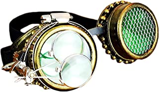 AUSWIEI Cosplay Steampunk Goggles Halloween Party Masquerade Props Punk Glasses (Color : Steampunk Goggles)