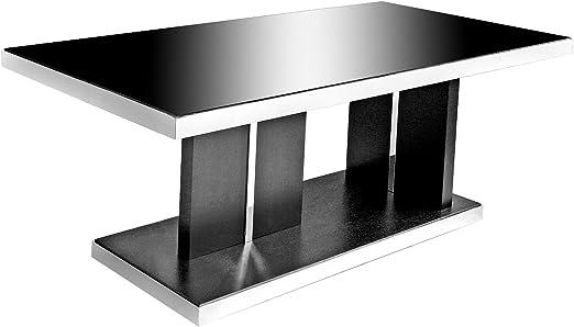 Stickbase Ltd Crepúsculo de Cristal Negro Mesa de Comedor – Negro ...