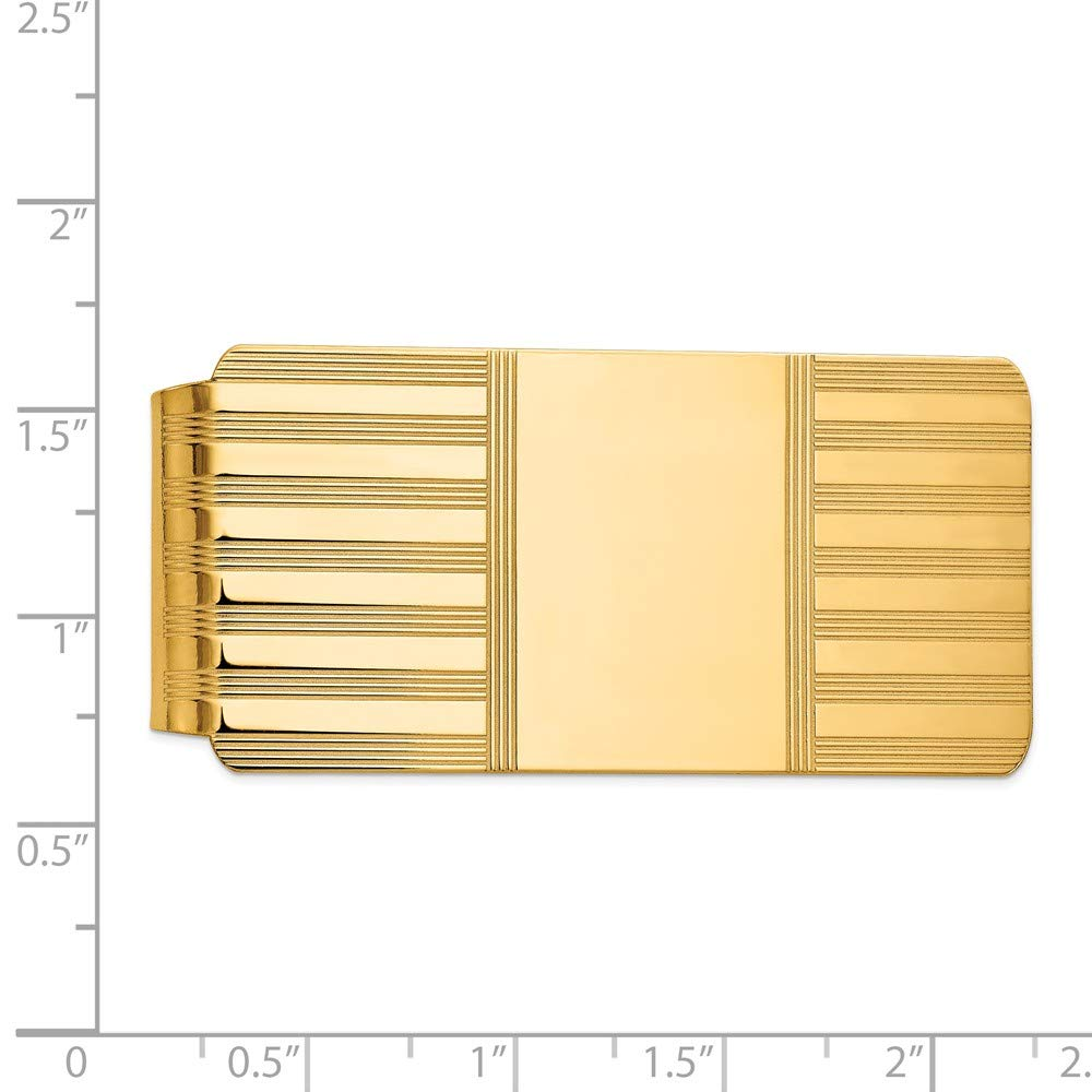 FB Jewels Solid 14K Yellow Gold Money Clip
