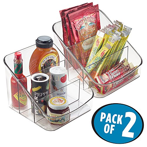 mDesign Spice Packet Organizer for Kitchen Pantry, Cabinet, Countertops - Pack of 2, Clear by mDesign