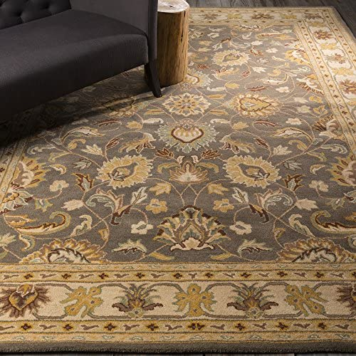 Surya CAE-1005 Caesar Charcoal 8-Feet by 10-Feet Oval Area Rug