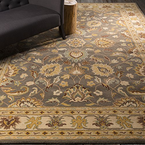 Surya Caesar 8-Feet by 11-Feet 100-Percent Wool Hand Tufted Area Rug (811 Dark Khaki Color)