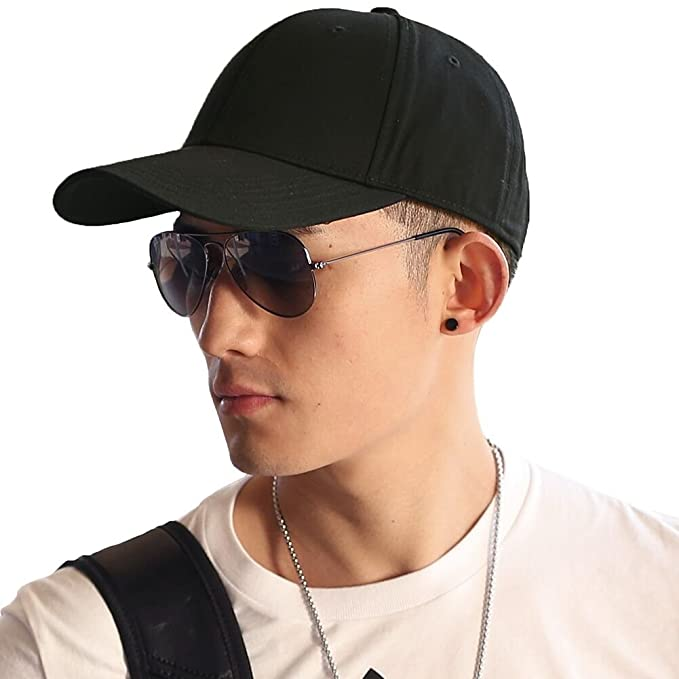 97c31a59 Siggi Unisex Cotton Golf Cap Mens Womens Sun Hat Sports Baseball  Performance Cap Black 56-60CM: Amazon.co.uk: Clothing