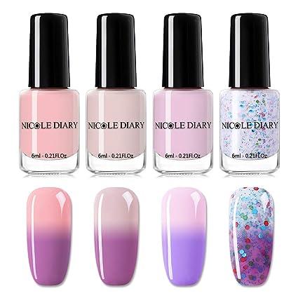 Nicole Diary Cambio De Color Esmalte De Uñas Brillo Térmico
