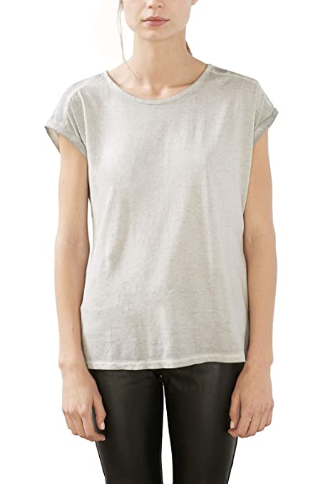 017ee1k002, T-Shirt Femme, Blanc (White), 40 (Taille Fabricant: Large)Esprit