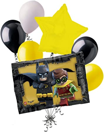 Amazon.com: 7pc Lego Batman, Robin y ramo de globos ...