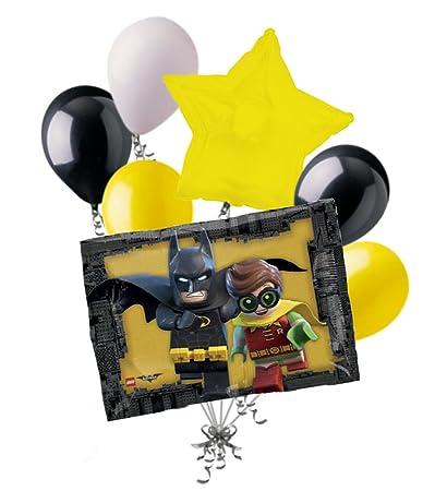 Amazon.com: 7pc Lego Batman, Robin y ramo de globos ...