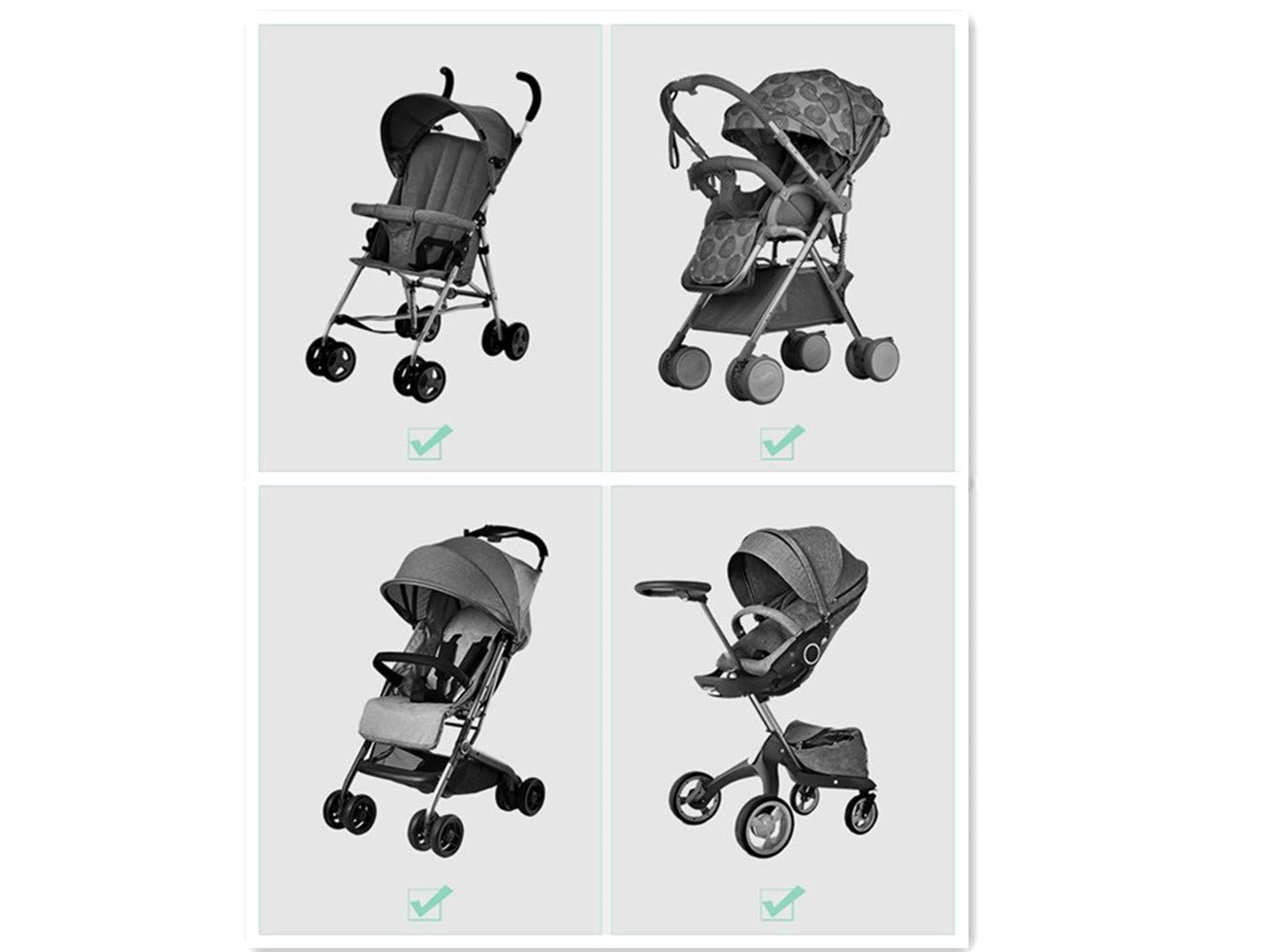 Schwarz Einkaufstaschen Kinderwagen Kinderwagen Haken Buggy Clips f/ür Baby Wickeltasche 2 St/ück Buggy Clips B/ündeln Multifunktionalen Rollstuhl Universelle Passform Fahrrad