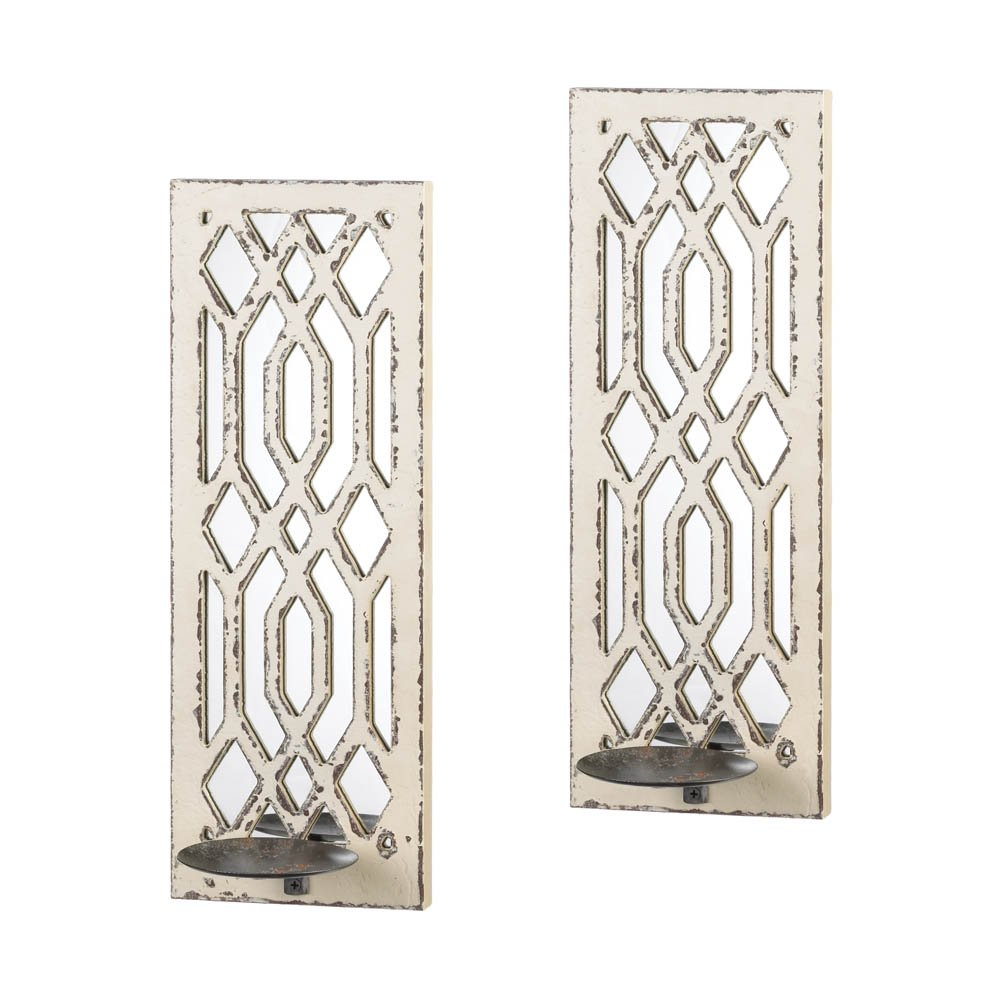 Zingz and Thingz Wooden Designed Wall Sconce Pair (Set of 2)
