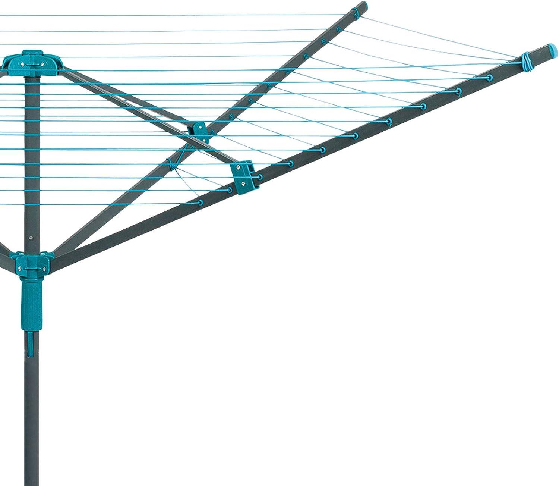 wetterfester Abdeckung und Bodenh/ülse Au/ßenluft T/ürkis fasst bis zu 20/kg 45/m Trockenl/änge Beldray LA059437FSDUEU W/äschespinne f/ür den Au/ßenbereich mit W/äscheklammern 45m