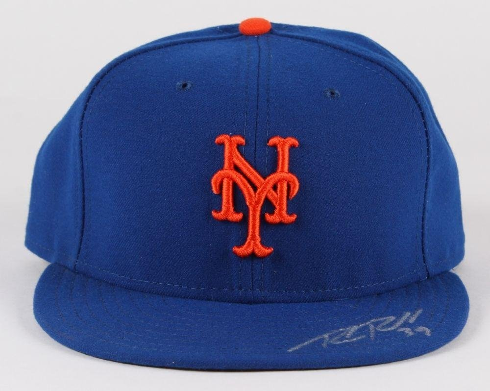 8dd261ed Bobby Parnell Signed New York Mets Fitted New Era Cap Sports Coa ...