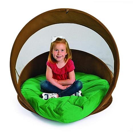 amazon com discount school supply hideaway log chair with cushion
