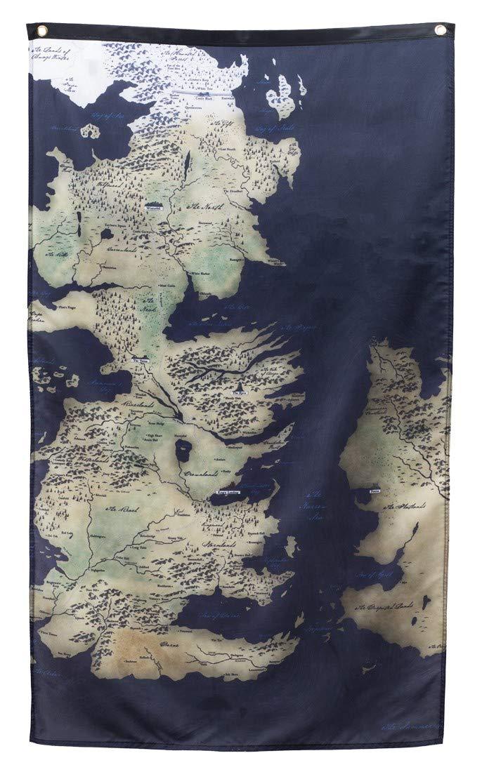 Pyramid America Game of Thrones Westeros Essos Map Framed ... on game of thrones live map, game of thrones people map, game of thrones books map, game of thrones family map, game of thrones antique map, game of thrones black and white map, game of thrones poster map,