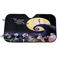 Lumugun Accordion-Style 'Nightmare Before Christmas' Windshield Sunshade Car Truck SUV Sunshade 27.5 X 51 in Windshield…