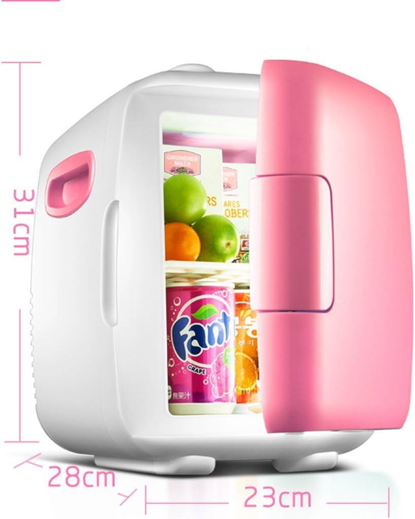 Amazon.es: Home Monopoly Refrigerador del coche 8 / 4L, mini refrigerador dual del uso del coche Caliente y frío del uso dual Refrigeración rápida 220V AC / 12V DC (Color : Pink-8L)